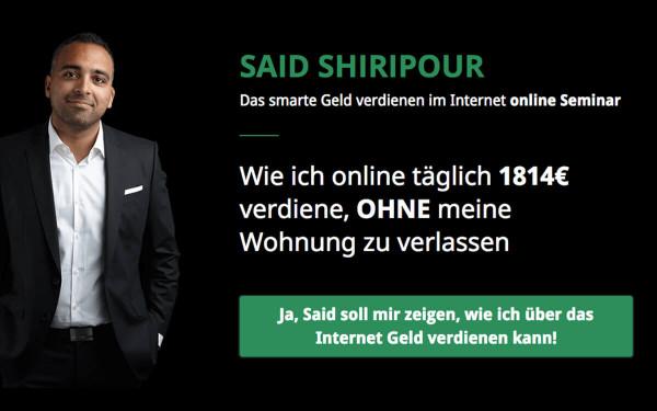 Said Shiripour - Wie ich 4-stelligen Umsatz am Tag ohne eigenes Produkt erziele