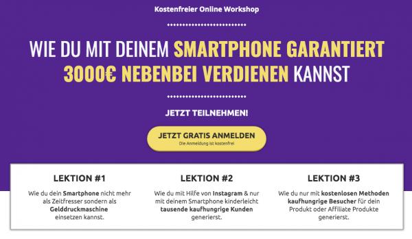 Smartphone Business - Geld verdienen mit dem Handy