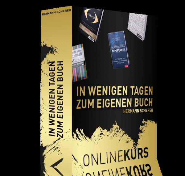In wenigen Tagen zum eigenen Buch - Der Onlinekurs von Hermann Scherer