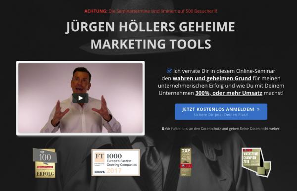 Jürgen Höllers geheime Marketing Tools - Das kostenlose Seminar