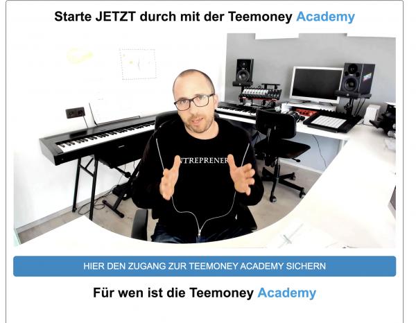 Teemoney 4.0 - Geld verdienen mit T-Shirts im Internet