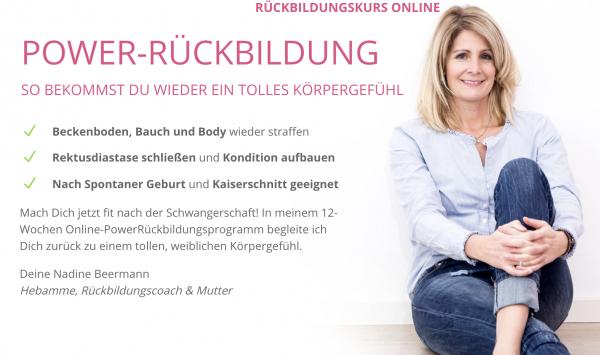 Rückbildung Onlinekurs von Hebamme Nadine Beermann